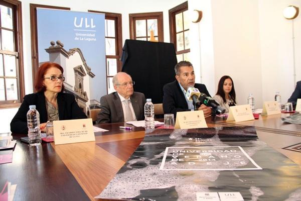 La Universidad de La Laguna, el Ayuntamiento de Adeje y la Fundación CajaCanarias, pilares del proyecto. / DA
