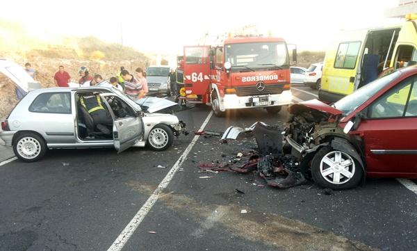 Imagen de los vehículos involucrados en el accidente. | DAVID RONCAL