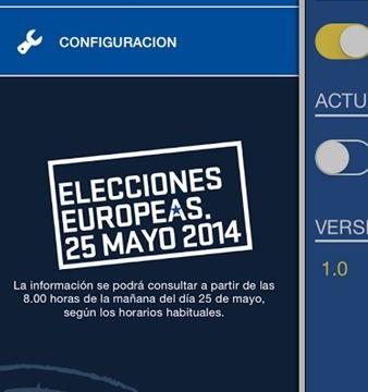 Una app para seguir los resultados de las europeas al minuto