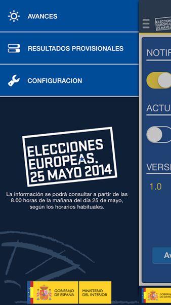 Una app para seguir los resultados de las europeas al for Elecciones ministerio del interior resultados