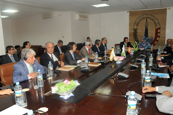 Reunión con la ministra de Turismo y el presidente de la Cámara de Comercio de Mauritania. / DA