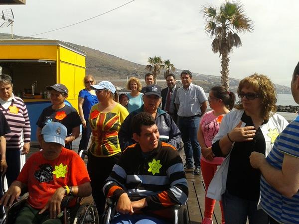 Algunos de los alumnos del Centro Ocupacional Arcoiris. / DA