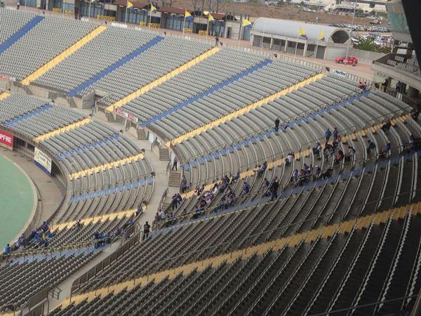Sobre las 17.00 horas se abrieron las puertas del Estadio de Las Palmas. / DA