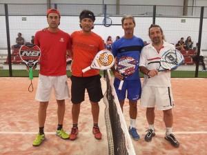 Callejo, González, Silva y Davirro, antes de empezar su partido. | DA