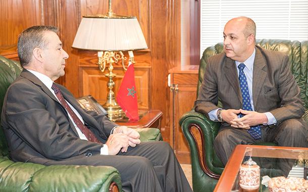 Paulino Rivero y el embajador de Marruecos Mohamed Fadel Benaich