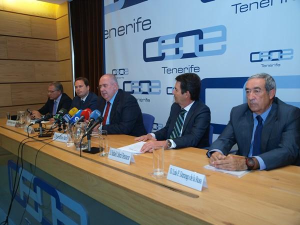 Imagen de los responsables del sector durante la rueda de prensa. | JOSÉ L. PÉREZ