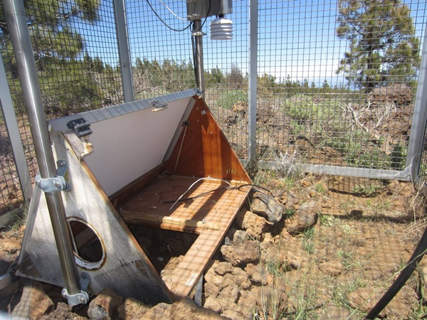 Estación geoquímica desvalijada. | INVOLCAN