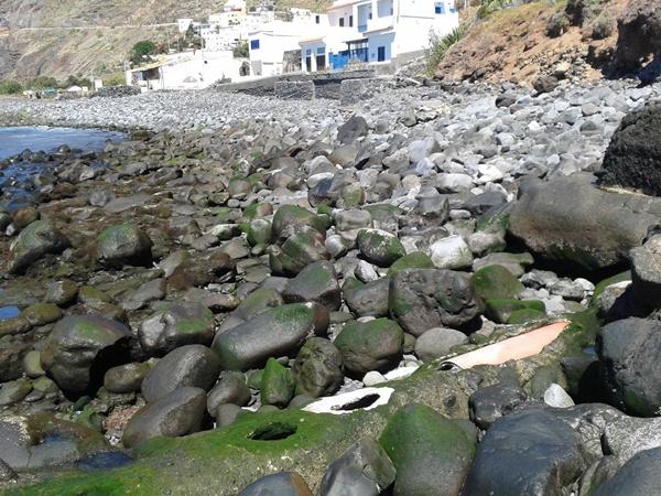 Imagen de las roturas que presenta el emisario submarino de Igueste de San Andrés. | DA