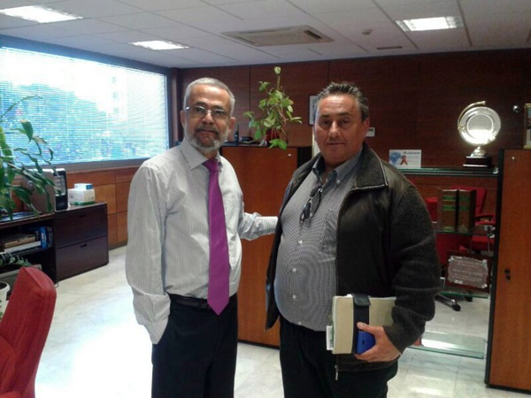 Ramón Guerra y Tomás Mesa, durante la reunión que mantuvieron. / DA