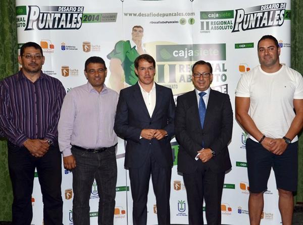 Una imagen de la presentación del Desafío con Pulido, Rodríguez, Hernández, Garrido y Medianito. / DA