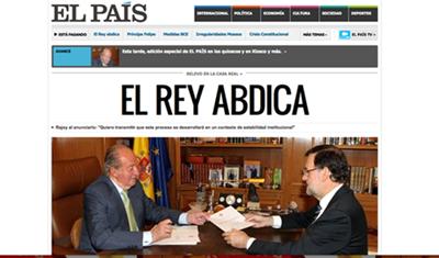 Portada de El País. / DA