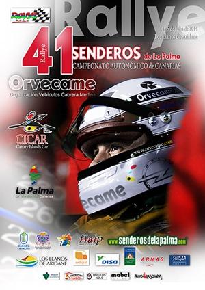Cartel del Rallye Senderos de La Palma