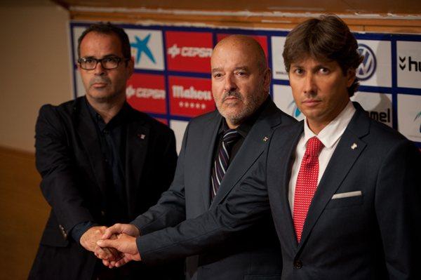 La sala de prensa del Heliodoro fue el lugar elegido para la puesta en escena de las novedades del club. | F.P.