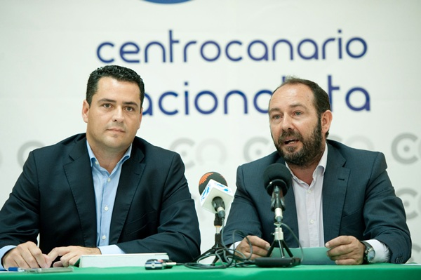 Fuentes y Ballesteros, en la sede del CCN. / FRAN PALLERO