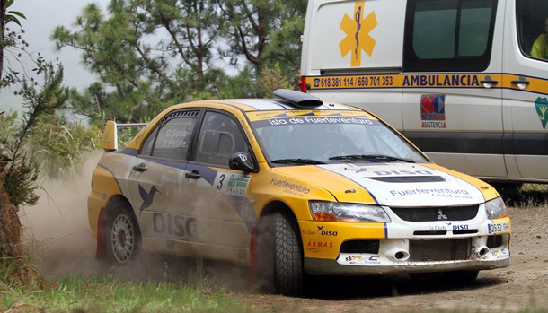 Gustavo Sosa y Rogelio Peñate Rally Tierra  Isla Verde 2014