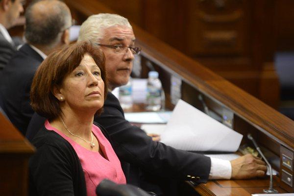 La consejera de Cultura, Deportes, Políticas Sociales y Vivienda, Inés Rojas, en el Parlamento. | SERGIO MÉNDEZ