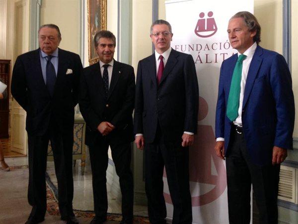 Imagen de la presentación ayer en Madrid con motivo de un encuentro sobre Justicia Amigable. | EUROPA PRESS