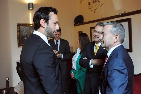 Rivero, ayer, en la Real Sociedad Económica de Amigos del País. / DA