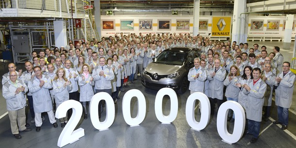 Renault fabrica el Captur 200.000