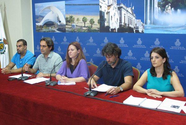 Roberto Abdullah (i), Pedro Fernández Arcila, Asunción Frías, Alberto Bolaños y María José Delgado. | DA