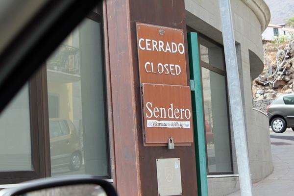 El sendero del Barrranco del Infierno se encuentra cerrado al público. / DA