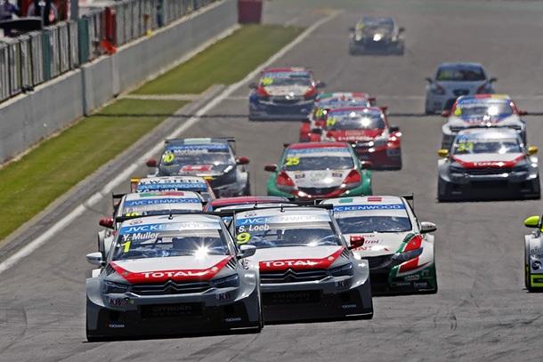 Salida 2ª carrera WTCC Spa (Citroën C-Elysee)-WTCC Spa
