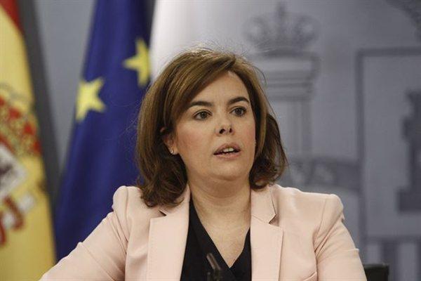 Soraya Sáenz de Santamaría durante la rueda de prensa posterior del Consejo de Ministros. | EP