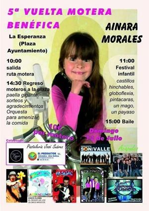 cartel ruta motera Ainara Morales