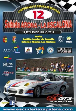 cartel Subida Arona - La Escalona