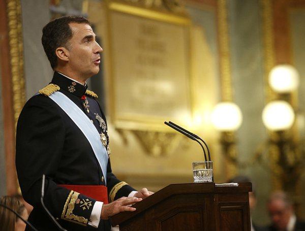 Un momento del discurso de Felipe VI. | REUTERS