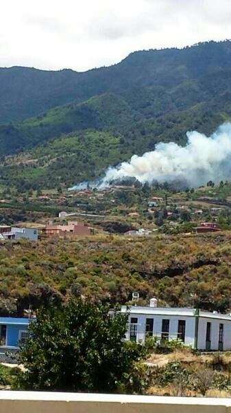 Foto de archivo de un incendio en La Palma