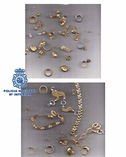 Dos joyeros son detenidos por comprar joyas robadas en otros atracos