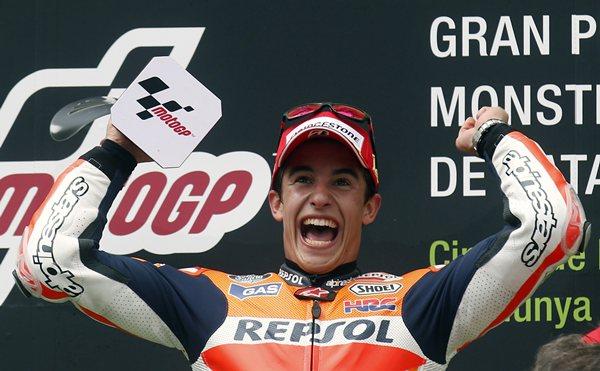 Marc Márquez celebra su séptima victoria. | REUTERS