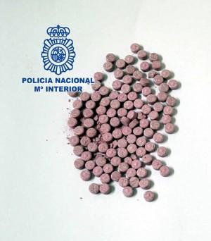 Pastillas extasis incautadas por la Policía Nacional.   DA
