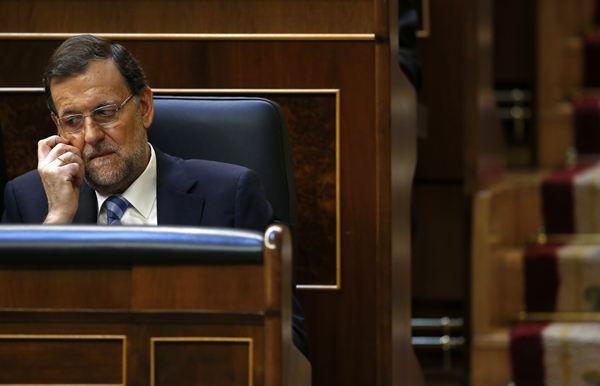 Rajoy, esta mañana en el Congreso. / REUTERS