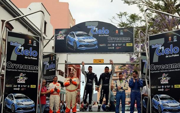 rallye Cielo de La Palma podio