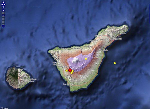 seísmos en Tenerife