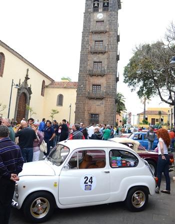 Llegada de un Rally Clásico en La Concepción.   DA