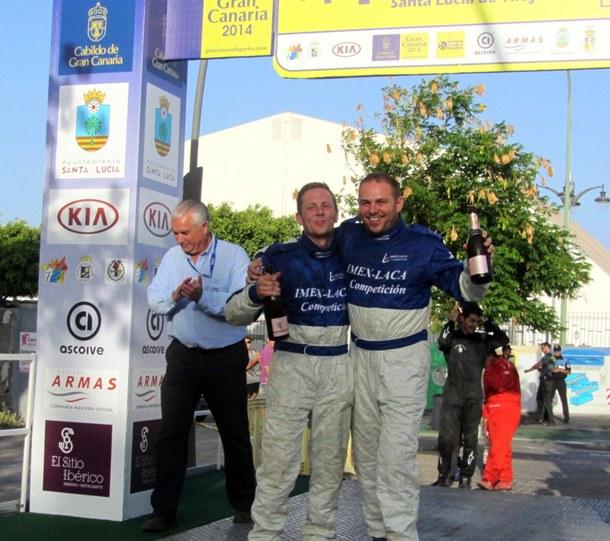 Armide Martin-Daniel Sosa podio Rally de Tierra de Gran Canaria
