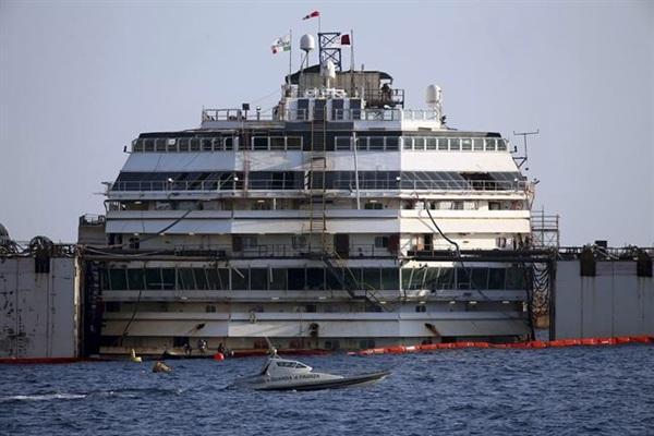El crucero se hundió el 13 de enero de 2012. / EP