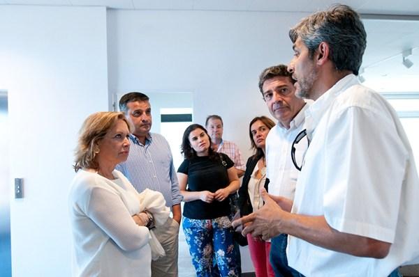 Francisca Luengo visitó junto a miembros del Ayuntamiento las instalaciones del Ctcan. / da