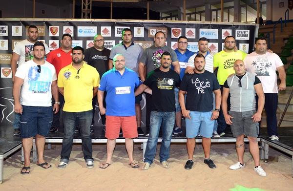 Participantes en el primer Campeonato de Puntales celebrado en Tegueste. / DA