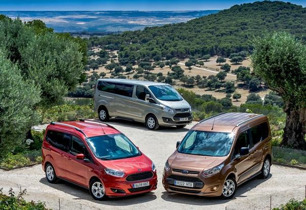 Los Ford Tourneo Courier, Connect y Custom, ofrecen innovadoras tecnologías y motores eficientes. / DA