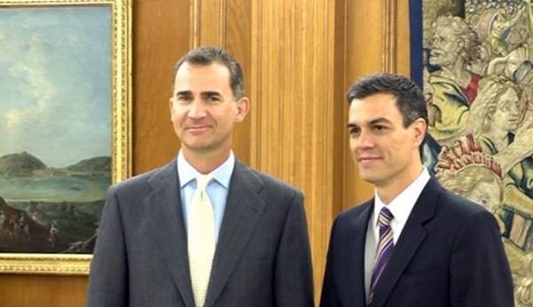 Felipe VI y Pedro Sánchez. | EP