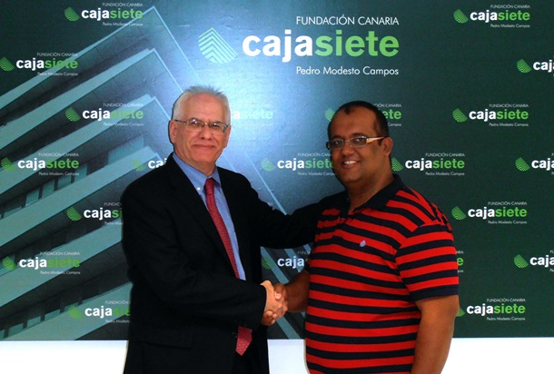 Acuerdo Fundacion CajaSiete Pedro Modesto Campos y Federación de Lucha Canaria de Tenerife