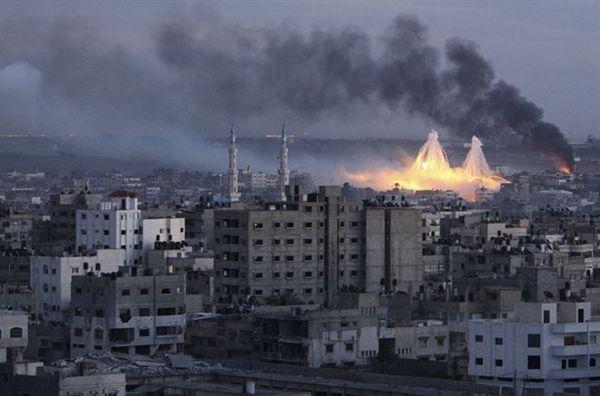 Imagen de un ataque israelí a la población de Gaza.   REUTERS