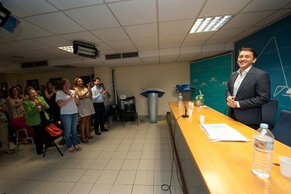 José Manuel Bermúdez ayer tras ser proclamado candidato a la alcaldía en 2015. / FRAN PALLERO