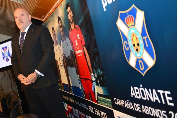 El presidente, en el acto de la campaña de abonos. / SEGIO MÉNDEZ