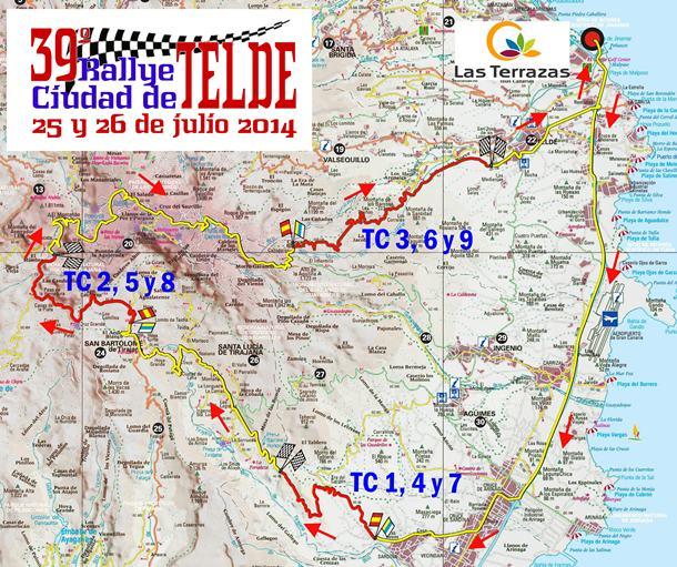 Mapa Rally Ciudad de Telde
