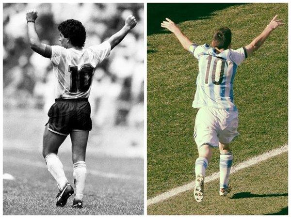Maradona y Messi. | EP